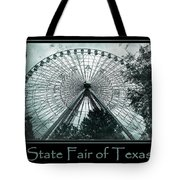 Texas Star Aqua Poster Tote Bag