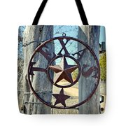Texas Star Rustic Iron Sign Tote Bag