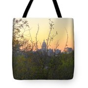 Texas State Capital From Far East Austin Tote Bag