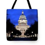 Texas State Capitol Floodlit At Night, Austin, Texas - Stock Image Tote Bag