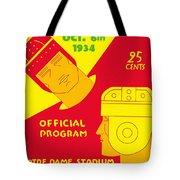 Texas Vs Notre Dame 1934 Program Tote Bag