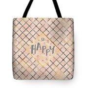 Text Art So Happy - Orange Tote Bag
