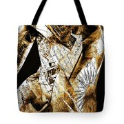 Text Wrap Statue Tote Bag