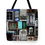 Textural Windows Collage Tote Bag