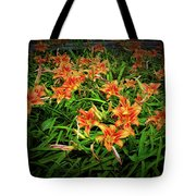 Texture Drama Field Of Tiger Lilies Tote Bag