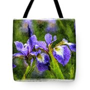 Textured Bearded Irises Tote Bag