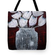 Textured Blooms Tote Bag