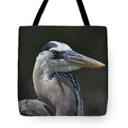 Textured Blue Tote Bag