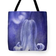 Textured Bluebell In Blue Tote Bag by Meirion Matthias