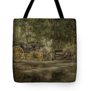 Textured Carriages Tote Bag