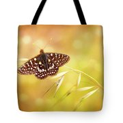 Textured Chalcedon Butterfly Tote Bag