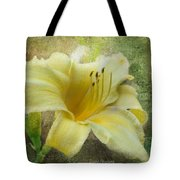 Textured Daylily Tote Bag