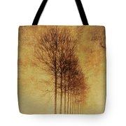 Textured Eerie Trees Tote Bag