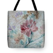 Textured Florals No.1 Tote Bag by Writermore Arts