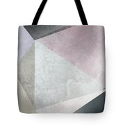 Textured Geometric Triangles Tote Bag