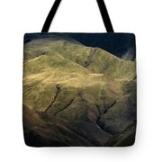 Textured Hills Panoramic Tote Bag