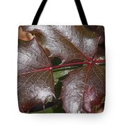 Textured Leaves Tote Bag