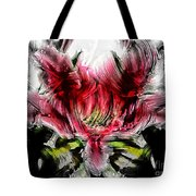 Textured Lily Tote Bag