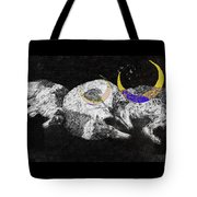 Textured Night For Borzoi Dogs Tote Bag
