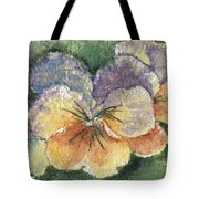 Textured Pansy Tote Bag