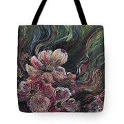 Textured Pink Petals Tote Bag