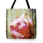 Textured Pink Red Rose Tote Bag