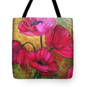 Textured Poppies Tote Bag