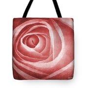 Textured Rose Macro Tote Bag by Meirion Matthias