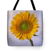 Textured Sunflower Tote Bag