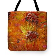 Textured Sunflowers Tote Bag