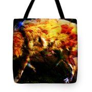 Textured Wolf Tote Bag