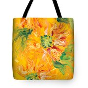 Textured Yellow Sunflowers Tote Bag