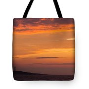 Thacher Island Lighthouse Panoramic Tote Bag
