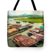Thai Floating Village Tote Bag