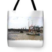 Thames Barges Tote Bag
