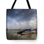 Thames Clipper And Cable Car Tote Bag