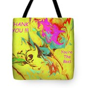 Thank You Card Abstract Lilac Breasted Roller Tote Bag