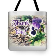 Thank You Pansy Tote Bag