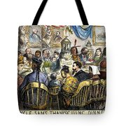 Thanksgiving Cartoon, 1869 Tote Bag