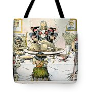 Thanksgiving Cartoon, 1898 Tote Bag