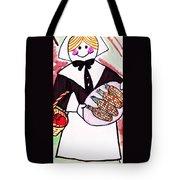 Thanksgiving Lady Pilgrim Tote Bag