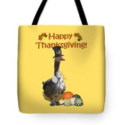 Thanksgiving Pilgrim Goose Tote Bag