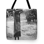 Tharu Rice Winnow Tote Bag