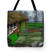 Thatched Roof Cottages In Ireland Tote Bag