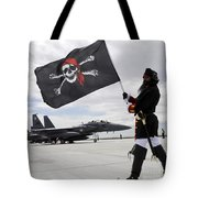 The 428th Fighter Squadron Buccaneer Tote Bag by Stocktrek Images