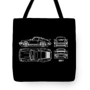 The 911 Turbo Blueprint Tote Bag