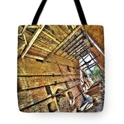 The Abandoned Furnace Quarry Building Tote Bag by Enrico Pelos