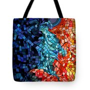 The Abstract Kiss Tote Bag