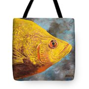 The Abyss Stares Back Tote Bag
