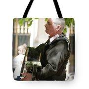 The Accordionist Tote Bag